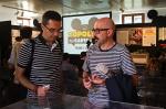 a destra: Davide Catenacci (Caporedattore comics Topolino)